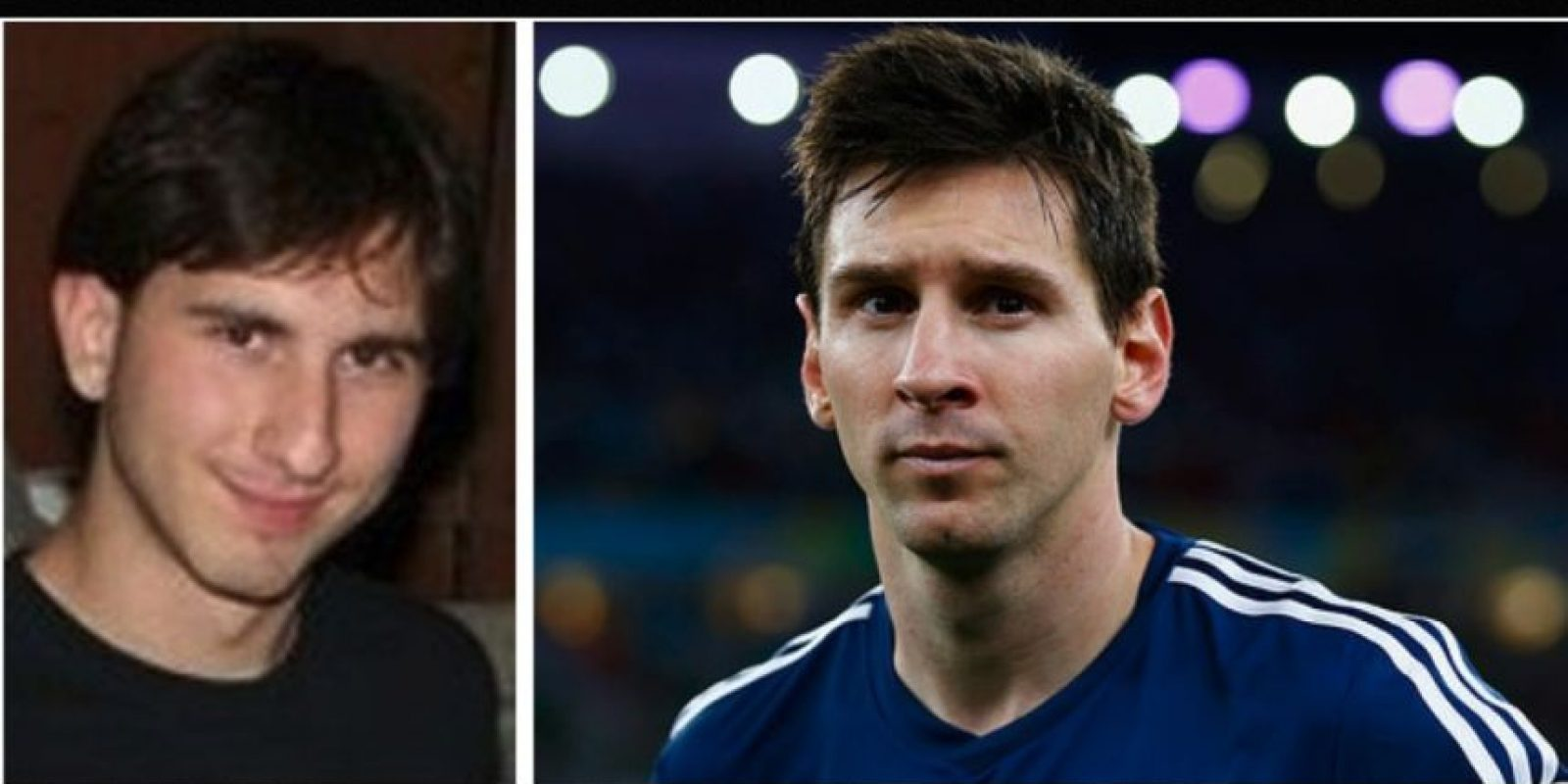 Igual a Lionel Messi Foto: Reddit/Getty