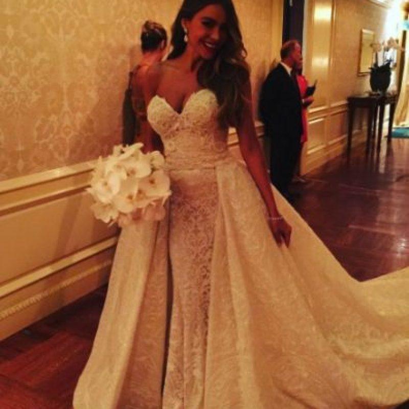 El vestido de la novia fue un diseño de Zuhair Murad Couture Foto:vía instagram.com/sofiavergara