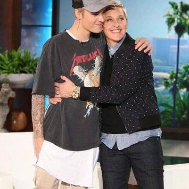 Justin Bieber no se cansa de generar polémica a donde quiera que vaya. Foto:Twitter/TheEllenShow