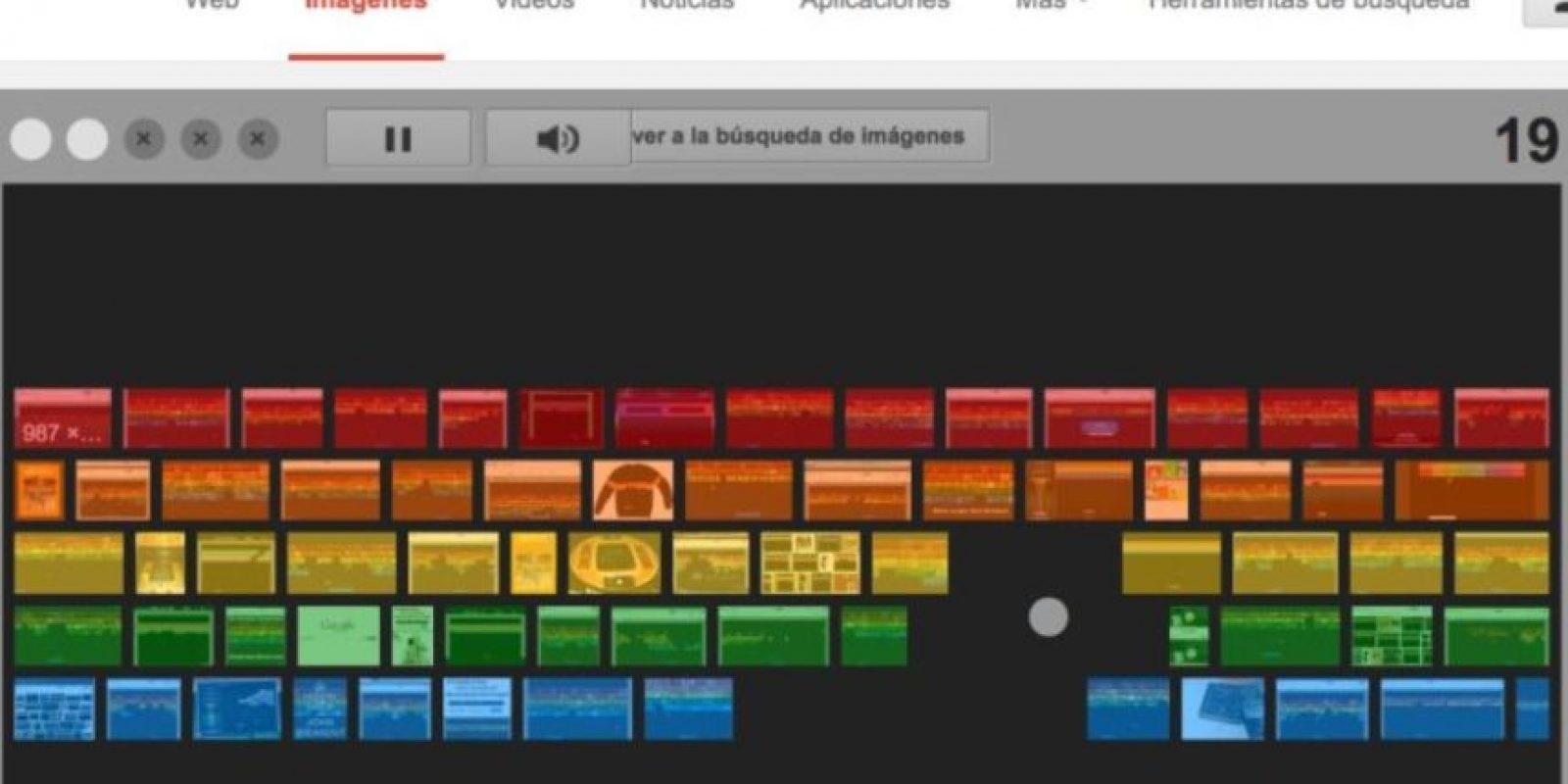 """7- Si no les gustó Zerg Rush, tenemos un juego más rápido. Ingresen a google.com/imghp y escriban en la barra de búsqueda """"Atari Breakout"""" y den enter. Estén preparados porque comenzará inmediatamente. Foto:Google"""
