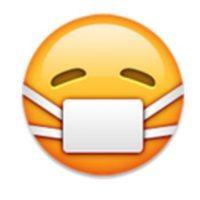 Rostro con cubre bocas. Foto:vía emojipedia.org