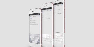 iPhone con un teclado físico. Foto:vía Curved / YouTube