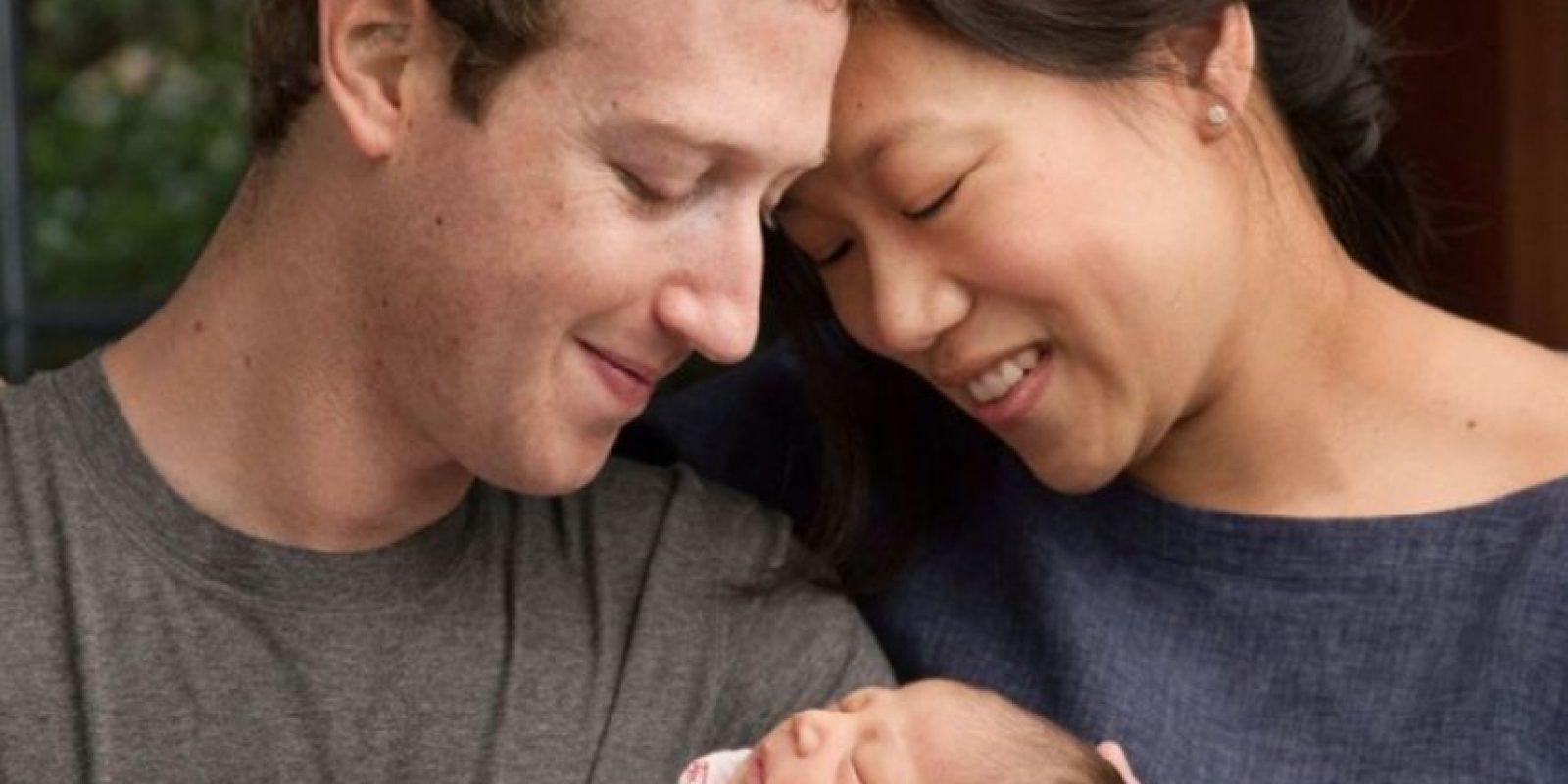 Mark Zuckerberg, Max y Priscilla Chan. Foto:vía facebook.com/zuck