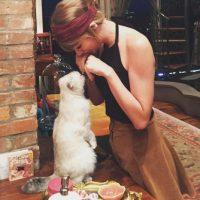 7- Taylor Swift jugando con su gata Meredith. 2.3 millones de me gusta. Foto:vía instagram.com/taylorswift