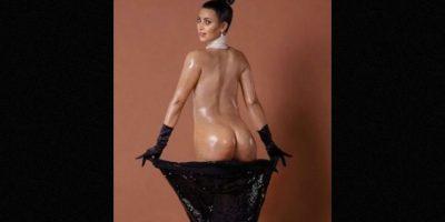"""""""Empire News"""" difundió esta imagen en la que se puede ver el trasero de Kim con algunas estrías, la espalda más ancha y un distinto tono de piel. Foto:""""Empire News"""""""