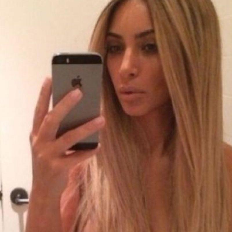 Kim Kardashian posa para la foto. Foto:Getty Images
