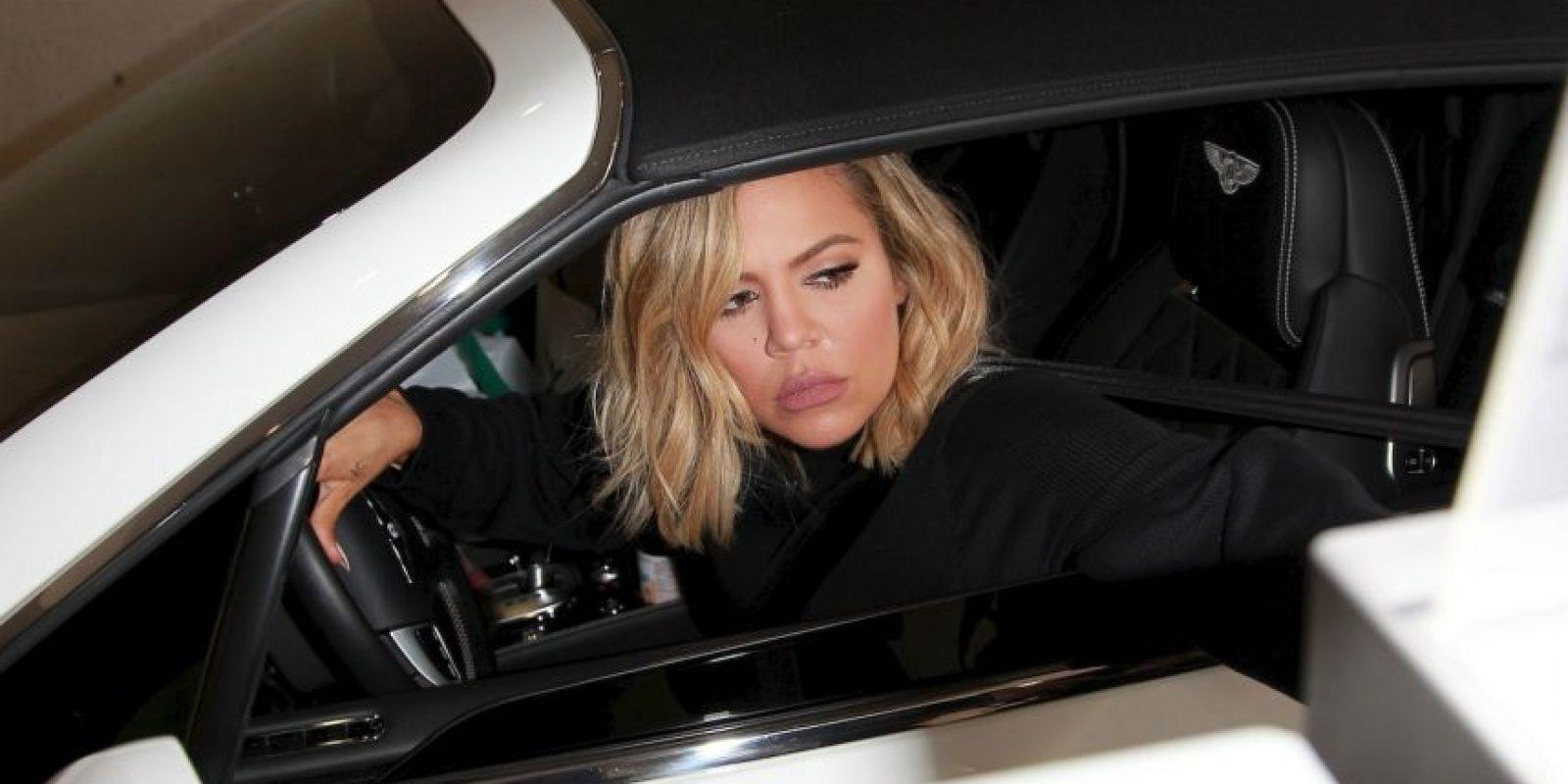 Su hermana Khloé Kardashian fue captada en su visita al hospital. Foto:The Grosby Group