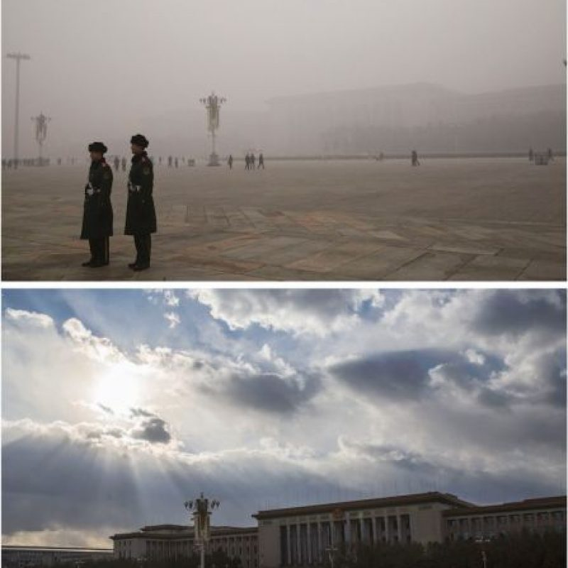 """Así luce Beijing """"inundada"""" por contaminación Foto:Getty Images"""