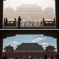 La imagen superior es del 1 de diciembre, mientras que la inferior es del día siguiente Foto:Getty Images