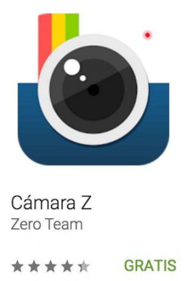 12- Cámara Z. Cuenta con filtros en vivo para que observan la forma en que lucirá su foto antes de tomarla. Soporta gestos y es compatible con video. Foto:vía Google