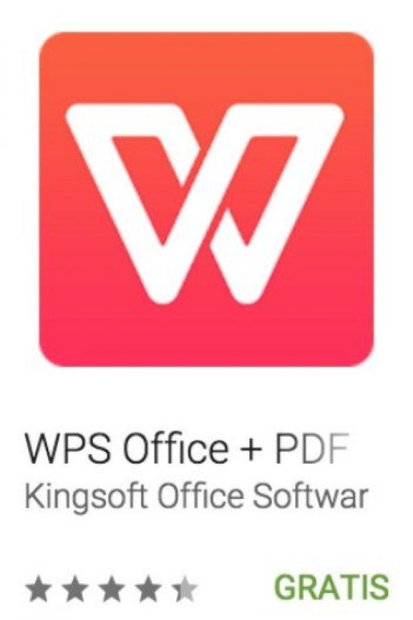 25- WPS Office + PDF. Es posible visualizar, crear y compartir documentos de Office en cualquier dispositivo Android. Foto:vía Google