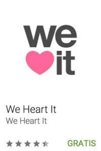 35- We Heart It. Pueden encontrar las más hermosas imágenes de todo lo que amas, inspiradas por millones de personas de todo el mundo. Foto:vía Google
