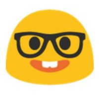Nerd. Foto:vía emojipedia.org