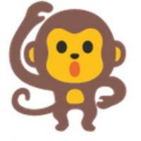 Mono bailando. Foto:vía emojipedia.org