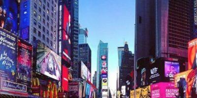 Times Square en Nueva York, Estados Unidos. Foto:vía instagram.comalyssamax07