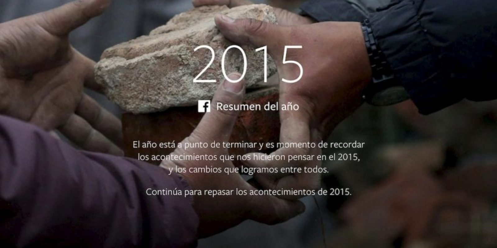 Facebook presentó lo más popular durante 2015. Foto:vía Facebook.com