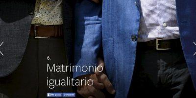 6- Matrimonio igualitario. Foto:vía Facebook.com