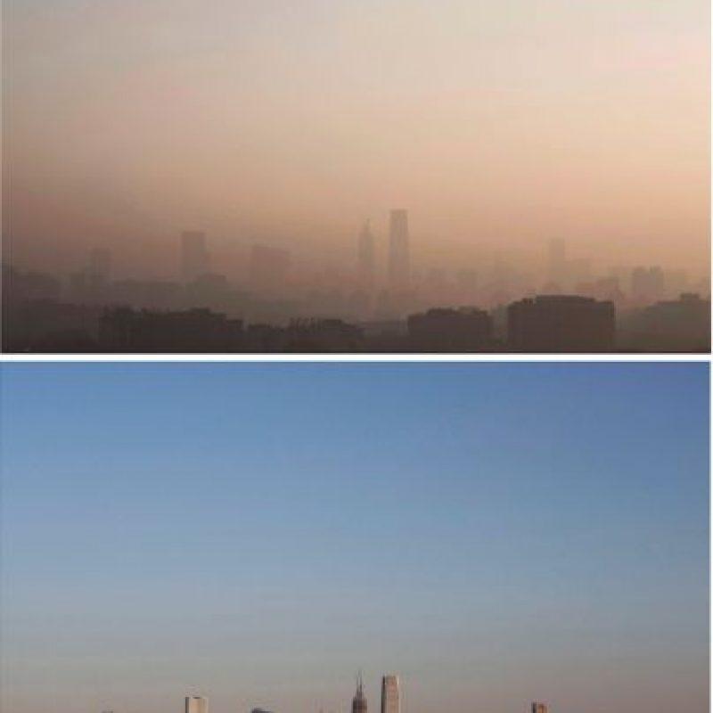 Así lucía Beijing en medio del esmog Foto:Getty Images