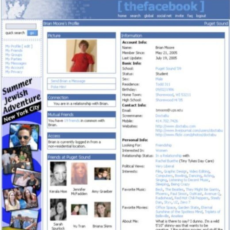 2005. Las comparaciones con MySpace no se hicieron esperar. Foto:vía Facebook.com