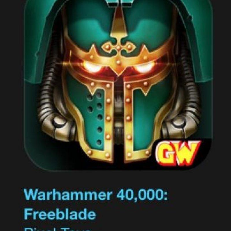 """5- """"Warhammer 40,000: Freeblade"""". Designado como el mejor en iPhone 6s. Es gratuito. Acción sin freno en el nuevo juego de la saga de Warhammer 40,000. Foto:vía Apple"""