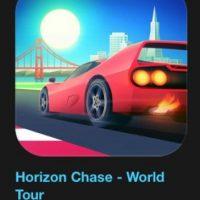 """6- """"Horizon Chase – World Tour"""". Cuesta tres dólares. Es un juego de carreras inspirado en los mayores éxitos de los 80's y 90's. Foto:vía Apple"""