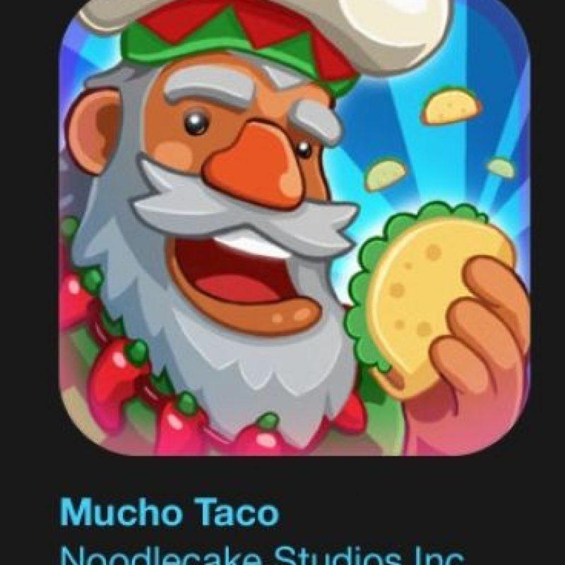 """18- """"Mucho Taco"""". Es gratuito. Es un juego clicker en el que podrán hacer un montonal de tacos con el poder de una mágica tortilla solar y la guía personalizada de Barbacoatl, un enigmático conocedor de tacos. Foto:vía Apple"""