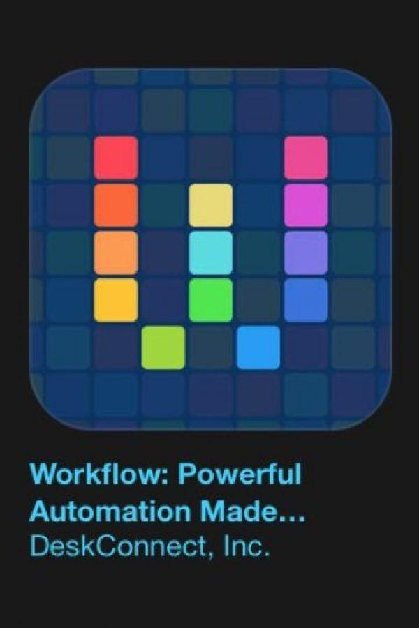"""6- """"Workflow: Powerful Automation Made Simple"""". Cuesta tres dólares y es su herramienta de automatización de personal, lo que le permite arrastrar y soltar cualquier combinación de acciones para crear flujos de trabajo de gran alcance. Foto:Apple"""