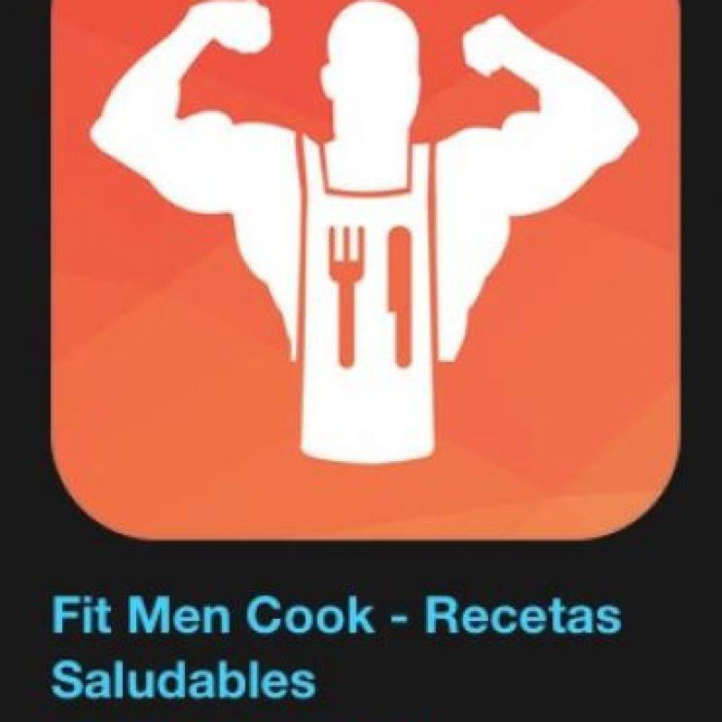 """9- """"Fit Men Cook – Recetas Saludables"""". Cuesta tres dólares y podrán encontrar la mejor manera de preparar 150 de las recetas más populares de Kevin Curry, fundador de Fit Men Cook. Foto:Apple"""