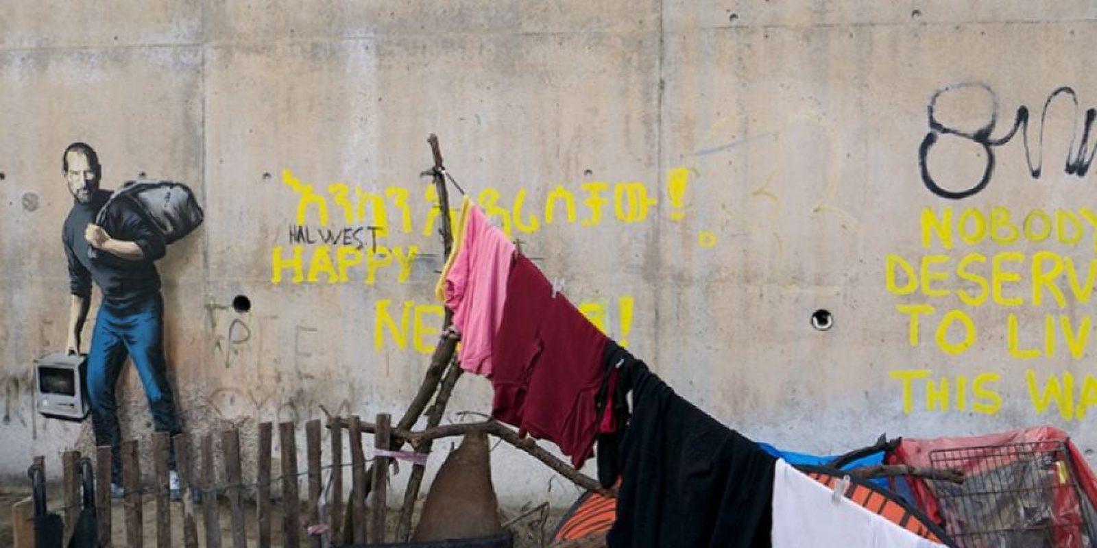 Jobs falleció en 2011 a consecuencia de cáncer de páncreas. Foto:vía banksy.co.uk
