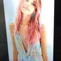 5. Anteriormente, tenía el cabello pintado de rosa. Foto:Instagram/jasminevilll