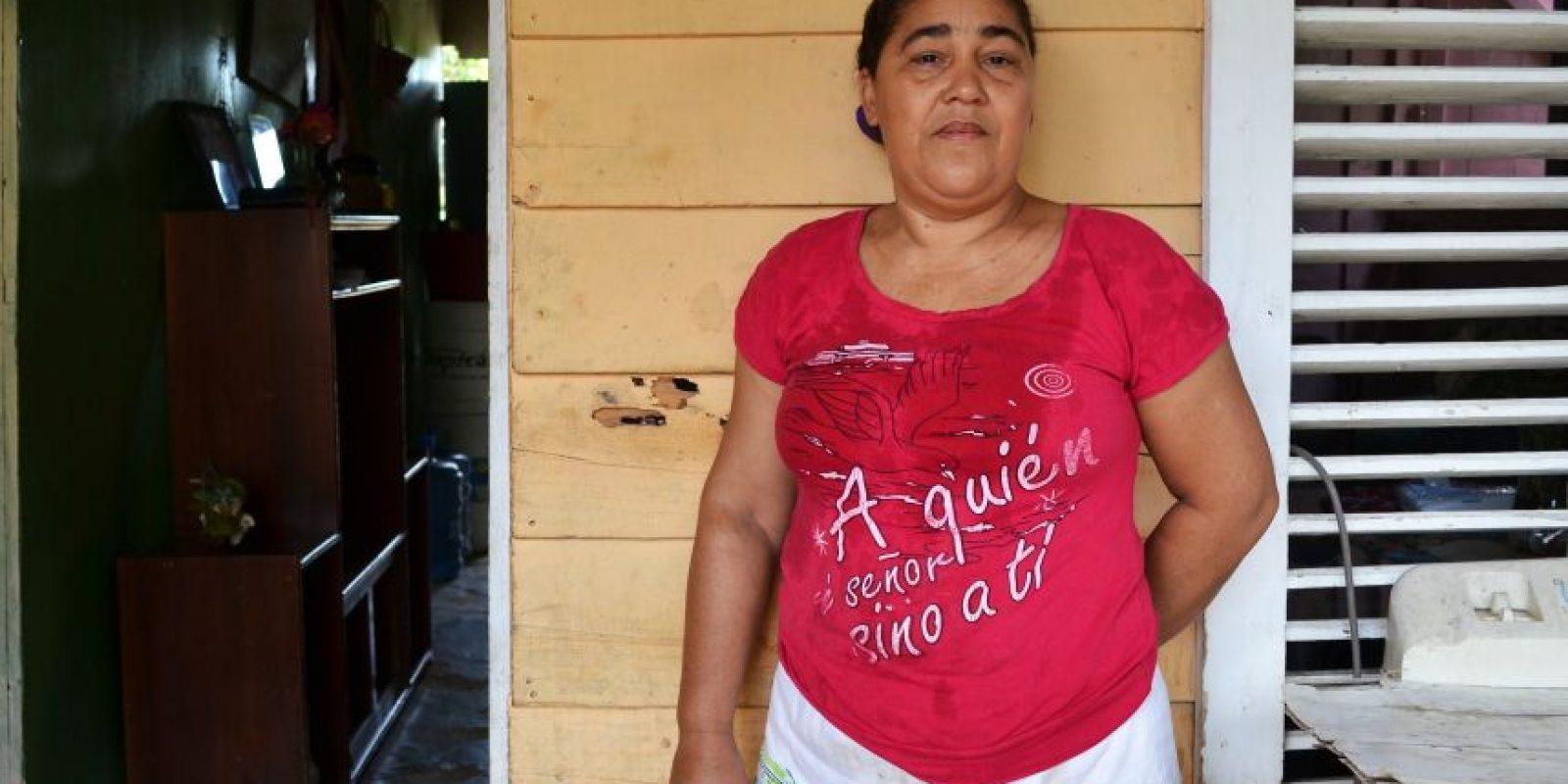"""Tércida """"hace milagros"""" mes a mes para cumplir con sus gastos . Foto:Mario de Peña"""