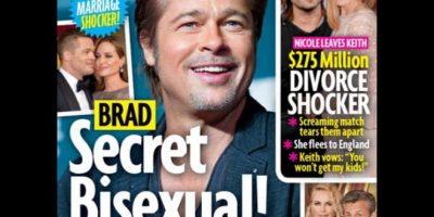 """""""No quiero definir la sexualidad de Brad Pitt, pero sea cual sea, le gustan los hombres"""", explicó Hesham """"Sham"""" Ibrahum, un experto en temas la farándula de Hollywood, a la revista """"Star"""" Foto:Star"""