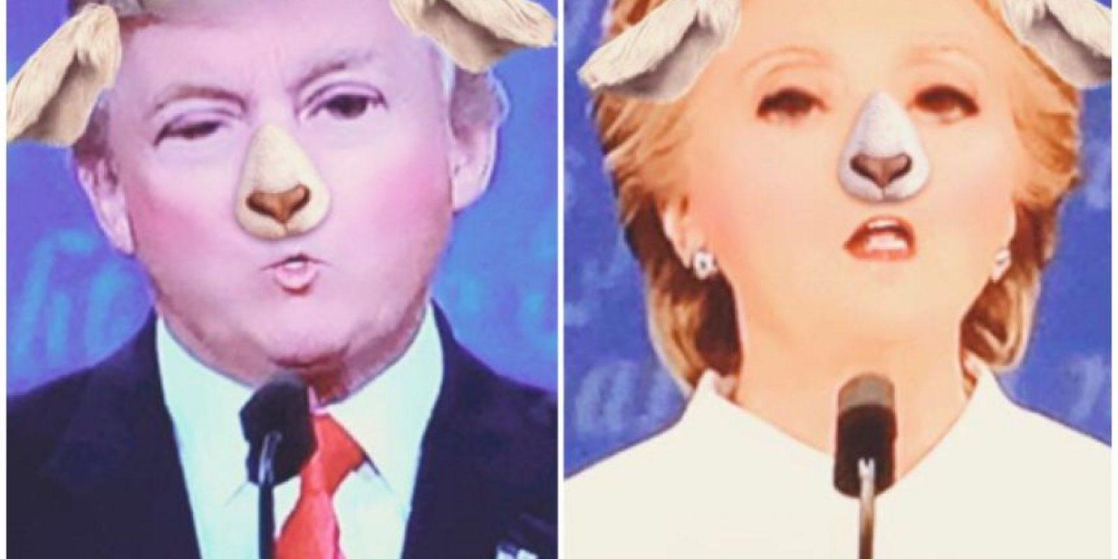 Hubo quienes estuvieron diviertiéndose con los filtros de Snapchat Foto:Twitter.com
