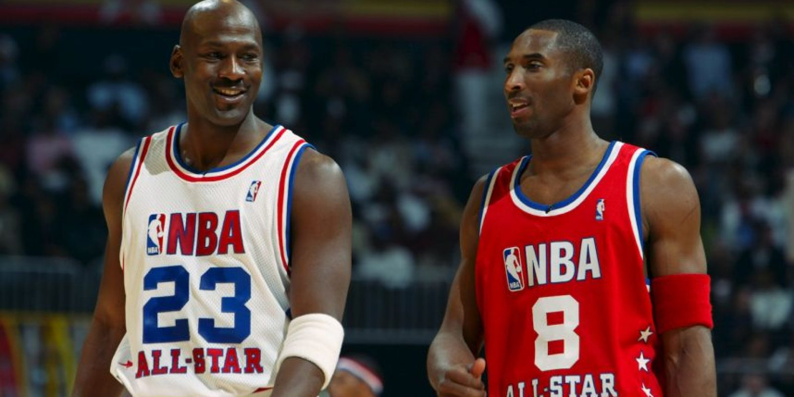 2003, con la leyenda Michael Jordan Foto:Getty Images