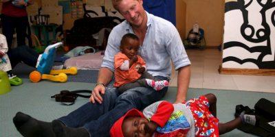 2013- Durante su gira por Lesoto, África Foto:Getty Images