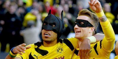 Antes, habían festejado como Batman y Robin Foto:Getty Images