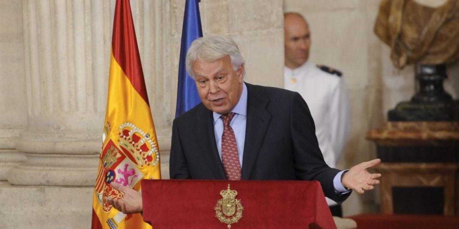 Felipe González, expresidente del gobierno español Foto:Getty Images
