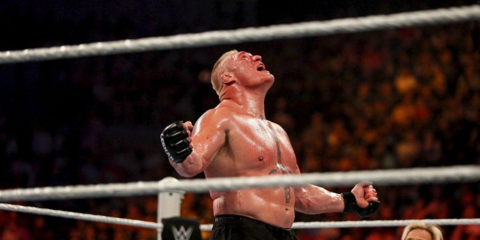 Lesnar es cuatro veces Campeón Mundial de la WWE, y también posee un título de la UFC. Foto:Getty Images