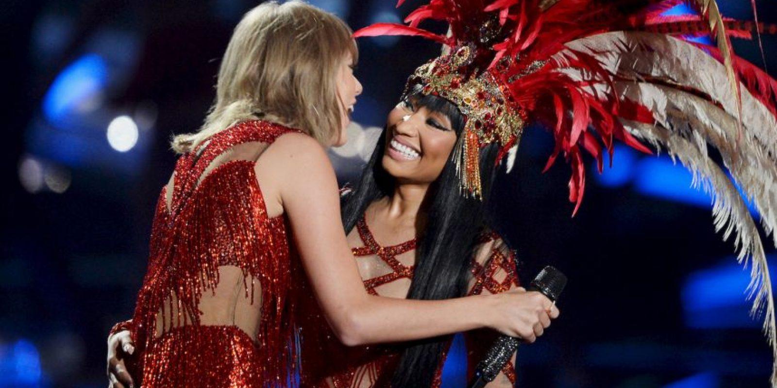 Así fue como Nicki y Taylor dejaron claro que la relación estaba bien entre ellas. Foto:Getty Images