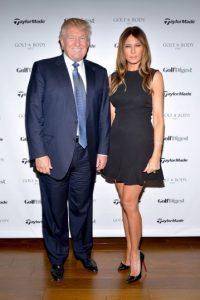 Melania Trump, su tercera esposa y madre de Barron Trump Foto:Getty Images