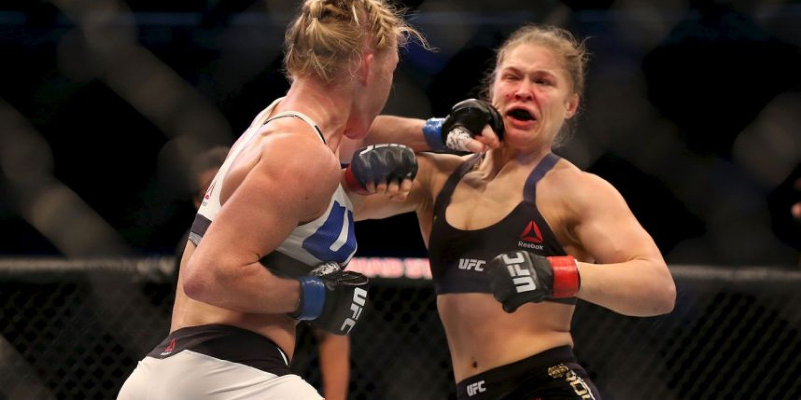 Pero en el combate ante Holly Holm, perdió su título al caer noqueada en el segundo round. Foto:Getty Images