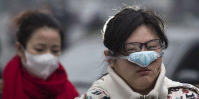 Esta semana, Beijing emitió la primera alerta roja de su historia por alta concentración de esmog Foto:Getty Images