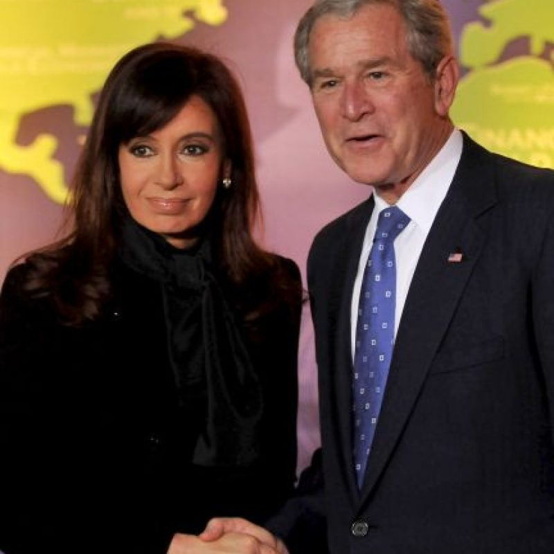 2008, con el expresidente George W. Bush Foto: Getty Images