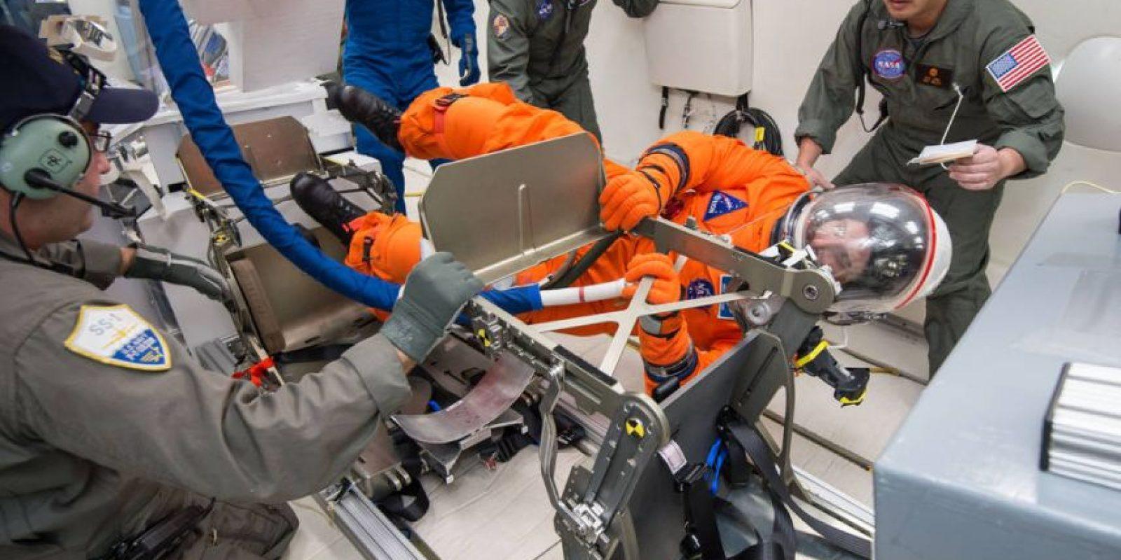 Los trajes espaciales también estan en procedimiento de pruebas. Foto:nasa.gov