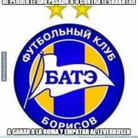 BATE Borisov está en la lucha por la clasificación. Foto:memedeportes.com