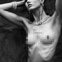 5. Karlie Kloss. Esta modelo fue retocada debido a su apariencia extremadamente flaca. Foto:Tumblr