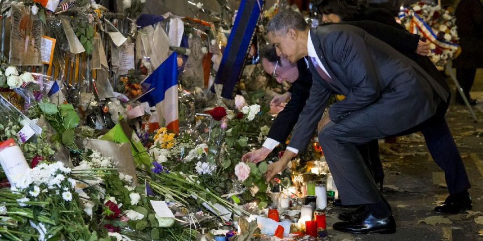 Estuvo acompañado del presidente Francois Hollande Foto:AP