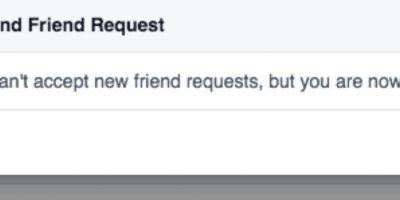 Ya no puede recibir más solicitudes de amistad. Foto:vía Facebook/Isobel Bowdery
