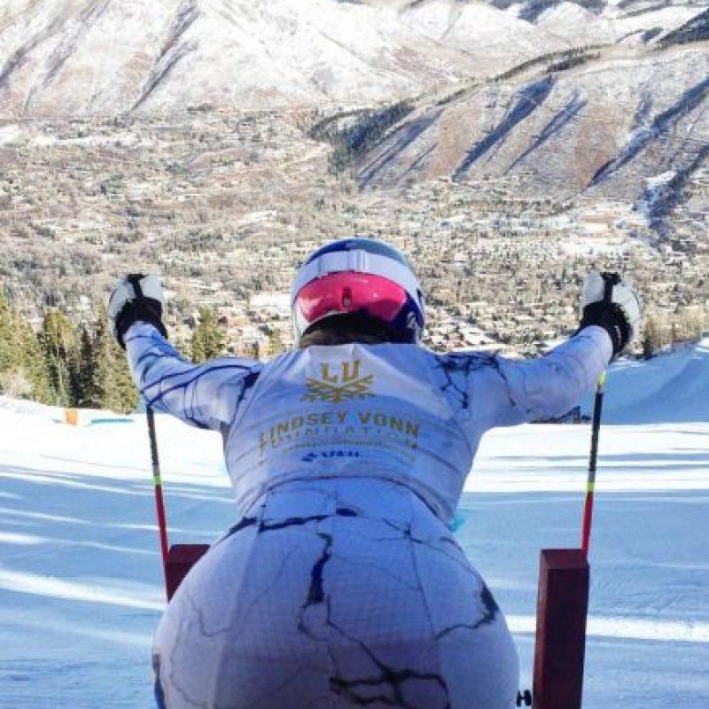 Esta es la foto que posteó la esquiadora Foto:Vía instagram.com/lindseyvonn