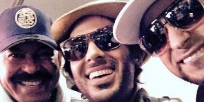 Los hermanos, con Óscar D' León. Foto:vía Facebook/Servando y Florentino